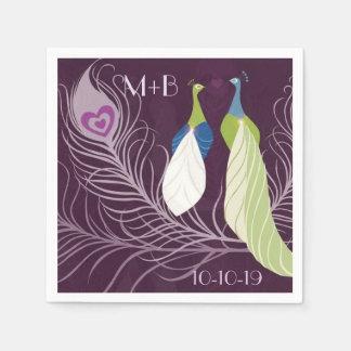  púrpura del personalizado del aniversario de servilletas de papel