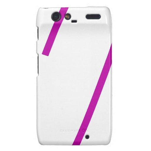 Púrpura del Pin de seguridad Motorola Droid RAZR Carcasa
