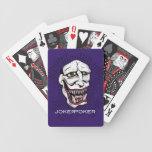 Púrpura del póker del comodín baraja cartas de poker