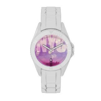Púrpura del reloj de New York City