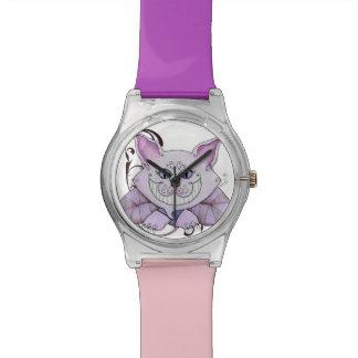 Púrpura del reloj del gato de Cheshire