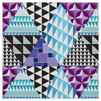 Púrpura del remiendo del diamante telas