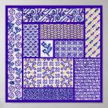 Púrpura del remiendo posters
