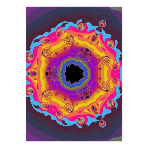Púrpura del rosa del amarillo de la mandala del fr tarjetas de visita