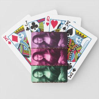 Púrpura del rosa del verde del estampado de baraja cartas de poker