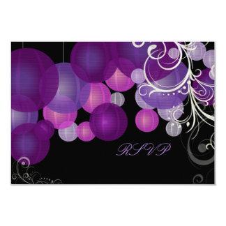 Púrpura del rsvp de PixDezines/linternas del Comunicados