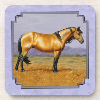 Púrpura del semental del ante del caballo salvaje posavaso