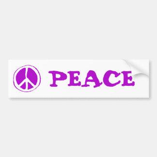 Púrpura del signo de la paz - etiqueta de parachoque