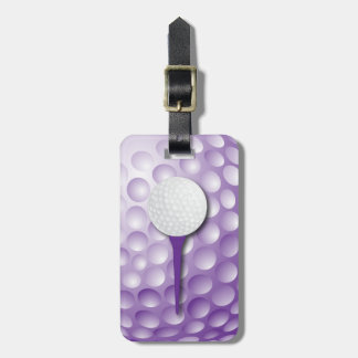 Púrpura del tee de golf el   etiquetas para maletas