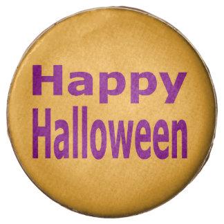 Púrpura del texto del feliz Halloween