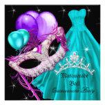 Púrpura del trullo del cumpleaños de Quinceanera d Comunicado