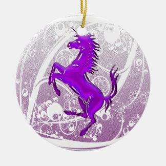 Púrpura del unicornio 1 adorno