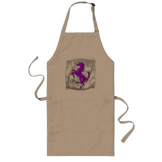 Púrpura del unicornio 1 delantales