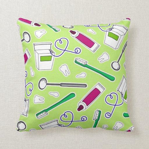 Púrpura del verde de la impresión del dentista lin almohada
