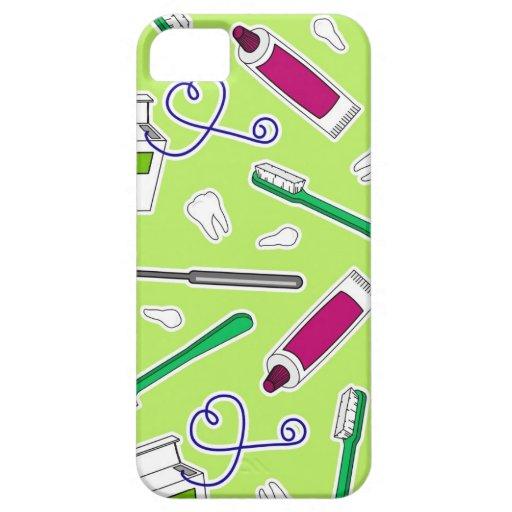 Púrpura del verde del amor del dentista lindo/del funda para iPhone SE/5/5s