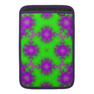 púrpura del verde del modelo de la llama fundas macbook air