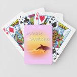 Púrpura del vigilante de la ballena barajas de cartas