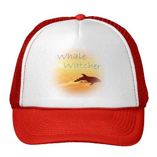 Púrpura del vigilante de la ballena gorro