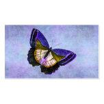 Púrpura del vintage y ejemplo de la mariposa del o plantillas de tarjetas de visita