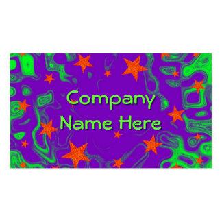 Púrpura delantera hechizada de la tarjeta de visit plantilla de tarjeta de negocio