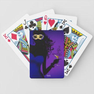Púrpura descarada del azul real el | de la barajas de cartas