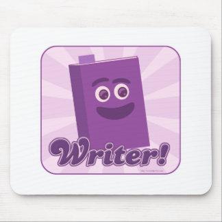 Púrpura descarada del escritor tapete de raton