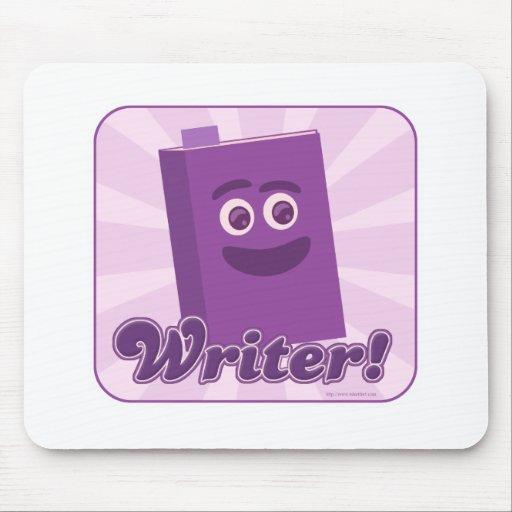 Púrpura descarada del escritor tapete de ratón