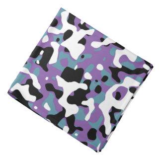 Púrpura destapada y turquesa del camuflaje bandanas