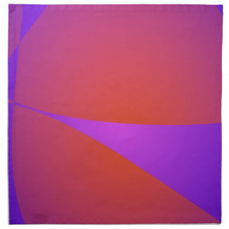Púrpura dinámica y naranja del contraste servilleta