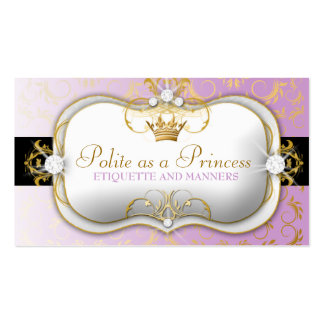 púrpura divina de oro de 311-Ciao Bella Tarjetas De Visita