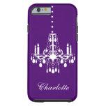 Púrpura dura del iPhone 6 cristalinos de la