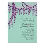 Púrpura e invitación moldeada del boda del trullo
