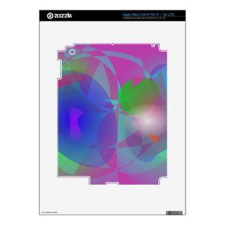 Púrpura efímera iPad 3 pegatinas skins