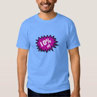 Púrpura el 10 por ciento apagado camisas