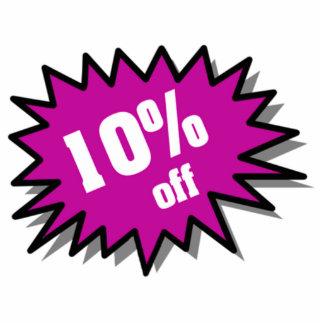 Púrpura el 10 por ciento apagado fotoescultura vertical