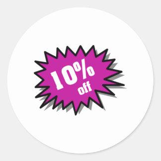 Púrpura el 10 por ciento apagado pegatina redonda