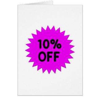 Púrpura el 10 por ciento apagado tarjeta de felicitación
