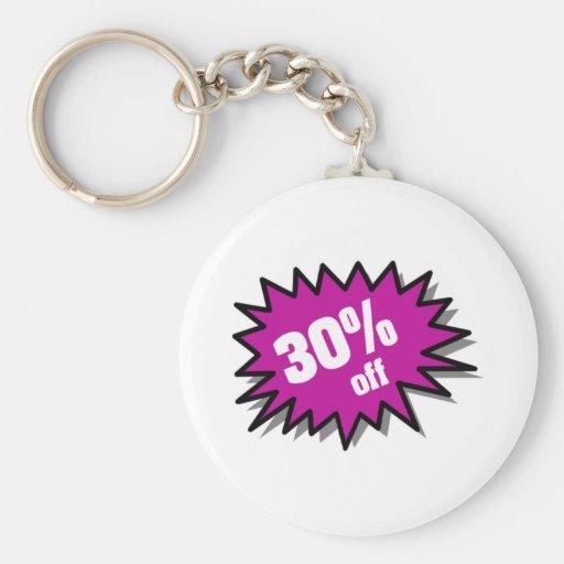 Púrpura el 30 por ciento apagado llaveros personalizados