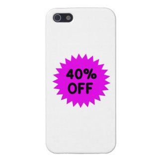 Púrpura el 40 por ciento apagado iPhone 5 protector