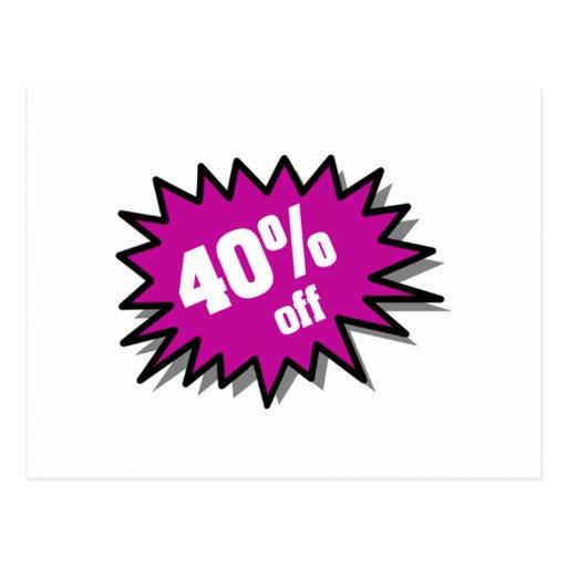 Púrpura el 40 por ciento apagado postales