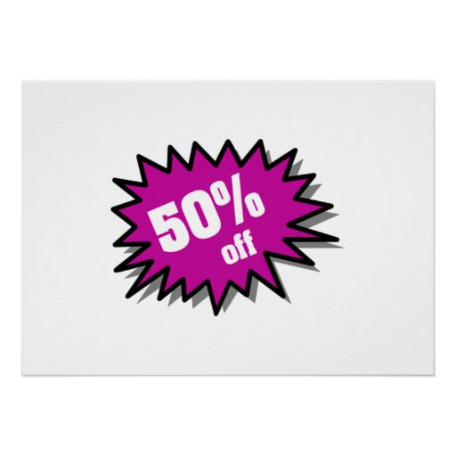 Púrpura el 50 por ciento apagado poster