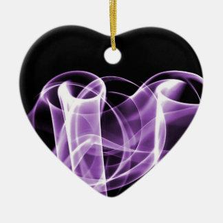 Púrpura - el arco iris agita coleccionable adorno de navidad