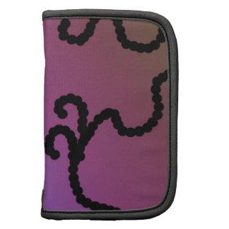 Púrpura elegante con diseño de la gota negra planificadores