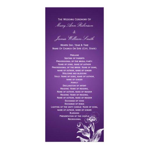 Púrpura elegante de la amapola del programa del bo invitaciones personalizada