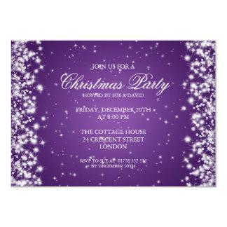 "Púrpura elegante de la chispa del fiesta invitación 5"" x 7"""
