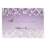 Púrpura elegante de la chispa del invierno de Plac Plantillas De Tarjetas De Visita