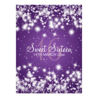 Púrpura elegante de la chispa del invierno del comunicado personalizado