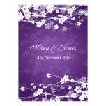 Púrpura elegante de la flor de cerezo del boda anuncios