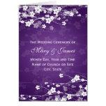 Púrpura elegante de la flor de cerezo del programa felicitaciones