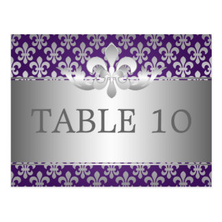 Púrpura elegante de la flor de lis del número de l tarjetas postales